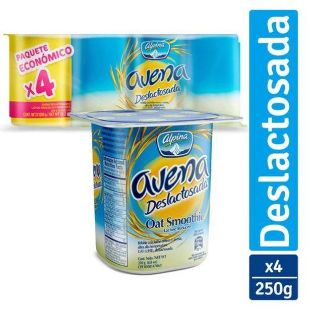 Oferta de Avenas Alpina Deslactosadas Paq x 4 unds (Vaso x 250 g c.u.) por $5985