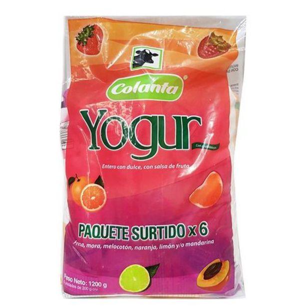 Oferta de Yogurt Colanta Paq x 6 unds (200 gr c.u.) por $4920