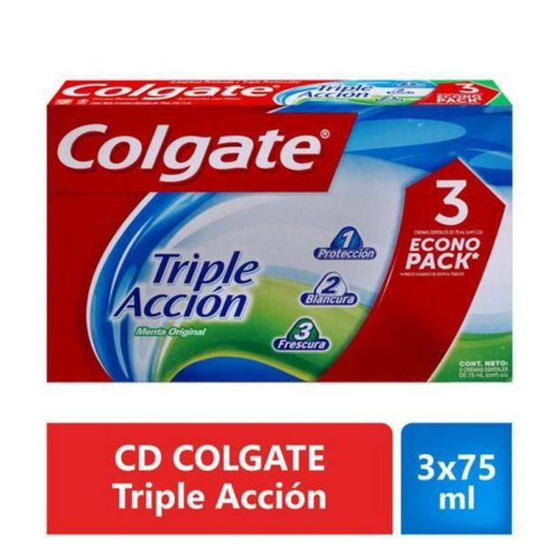 Oferta de Crema Dental Colgate Triple Acción Oferta 3 unidades de 75 ml c/u por $10710