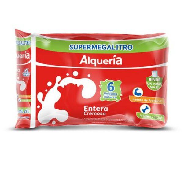 Oferta de Leche Entera Alqueria Sixpack x 1300 Ml c.u por $20970