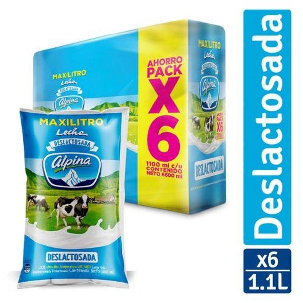 Oferta de Leche Deslactosada Alpina Paq x 6 unds ( Bosa x 1100 ml  c.u.) por $17010