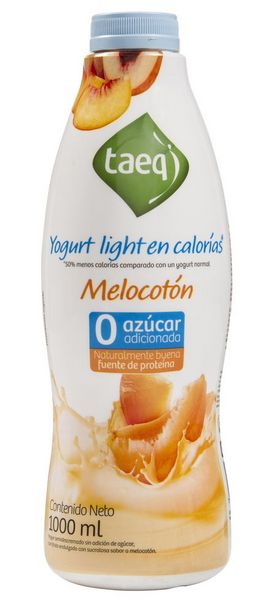 Oferta de Yogurt Light Melocotón Botella TAEQ 1000 Gramo por $5301