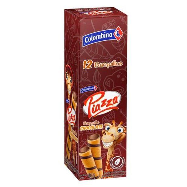 Oferta de Barquillos jirafa con crema de chocolate 12 unds PIAZZA 140 Gramos por $3527