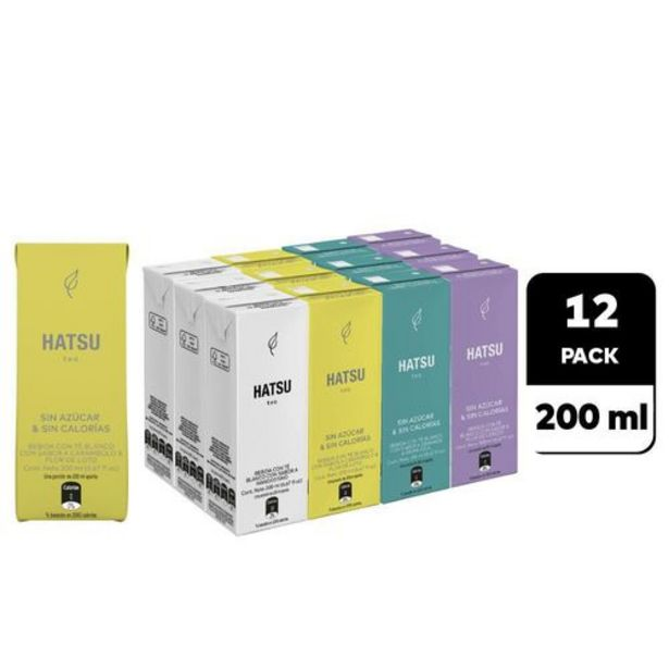 Oferta de Té Hatsu 12 Pack Surtido Tetrapack x 200 ml por $16150