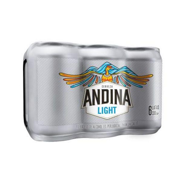 Oferta de Cerveza Light Sixpack Lata ANDINA 1980 Mililitro por $9375