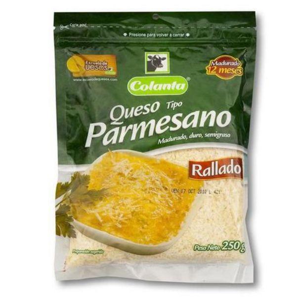 Oferta de Queso Parmesano Colanta Rallado x 250 gr por $14445