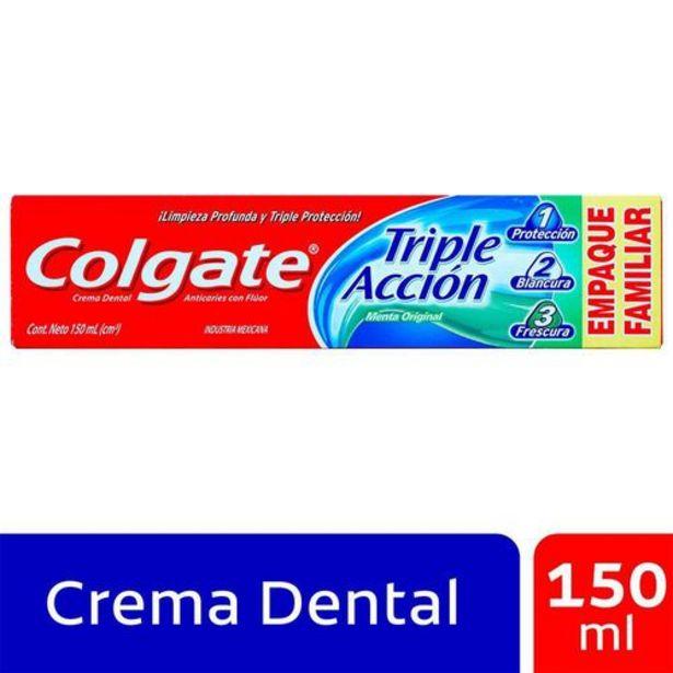 Oferta de Crema Dental Colgate Triple Acción 150 ml por $8650