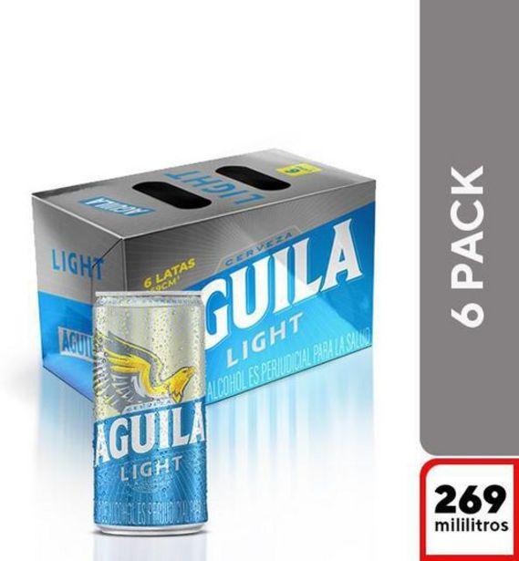 Oferta de Cerveza en lata sixpack AGUILA LIGHT 1980 Mililitro por $11900