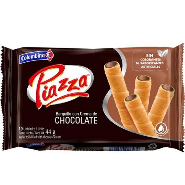 Oferta de Bandeja barquillos con crema de chocolate 10 unds PIAZZA 44 Gramo por $1802