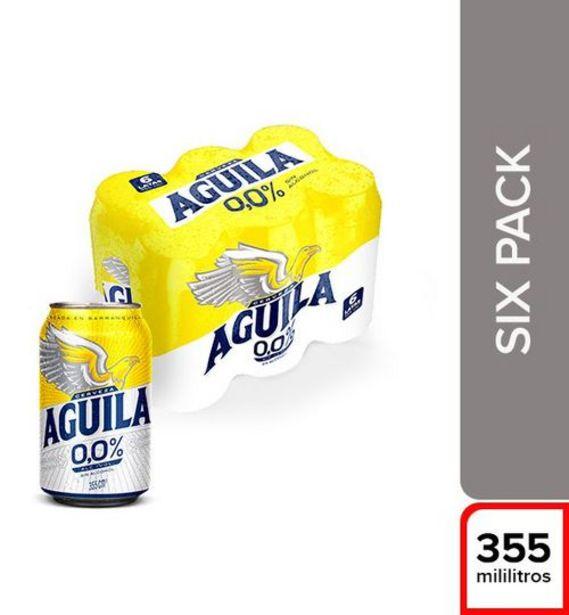 Oferta de CERVEZA SIXPACK LATA CERO AGUILA 2130 ml por $12100
