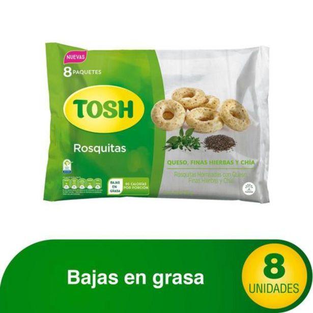 Oferta de Rosquitas Tosh Queso Finas Hierbas y Chia x 8 pqts  TOSH 176 Gramo por $8181