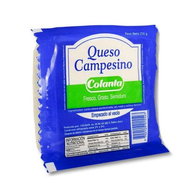 Oferta de Queso Campesino Colanta x 250 gr por $4446