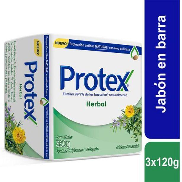 Oferta de Jabón en barra Protex Herbal 120g x 3 Und por $4740