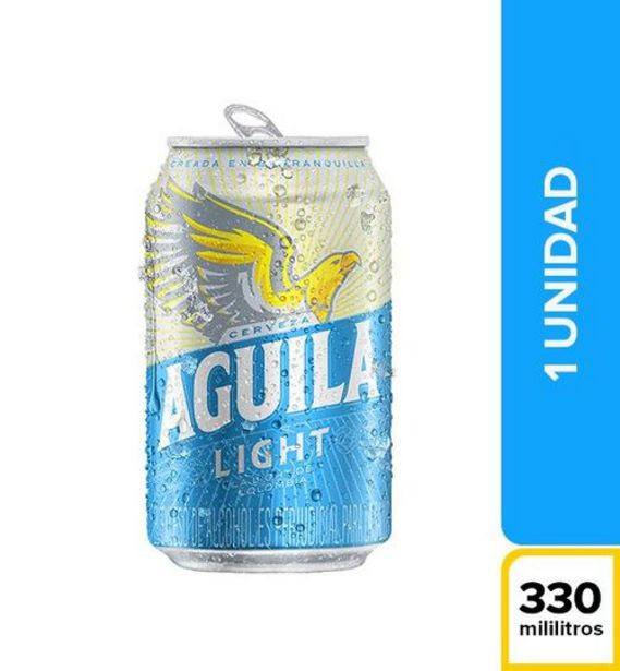 Oferta de Cerveza Aguila Light Lata 330 ml c.u por $2340