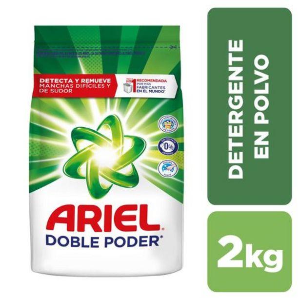 Oferta de Detergente en Polvo Ariel Doble Poder x 2 kg por $8775