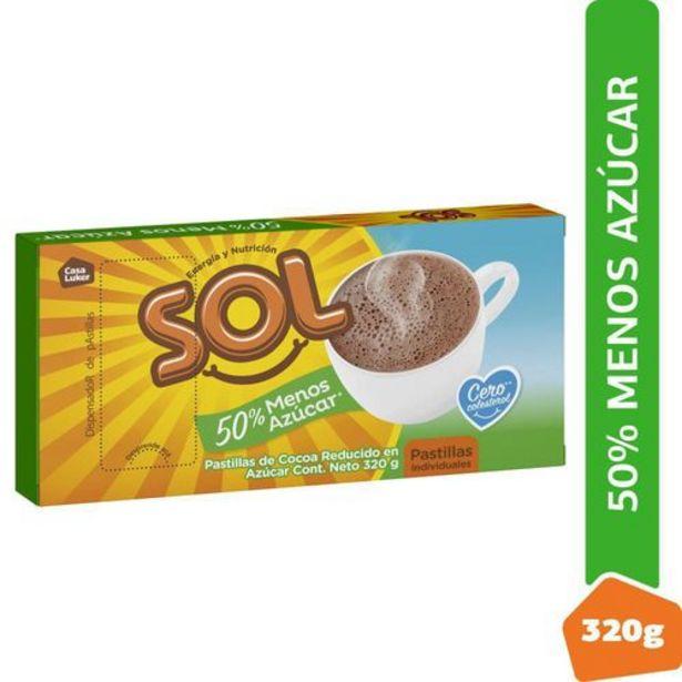 Oferta de CHOCOLATE 50% MENOS AZÚCAR SOL 320 Gramo por $4832