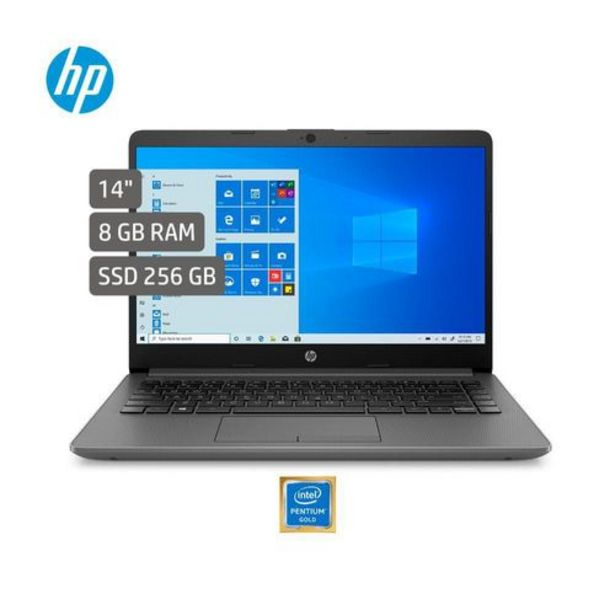Oferta de Computador Portátil HP 14 Pulgadas Pentium Gold 8GB 256GB SSD 14-CF1044la por $1489000