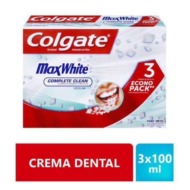 Oferta de Crema Dental Colgate Max White Crystal Mint Oferta 3x100ml por $12350