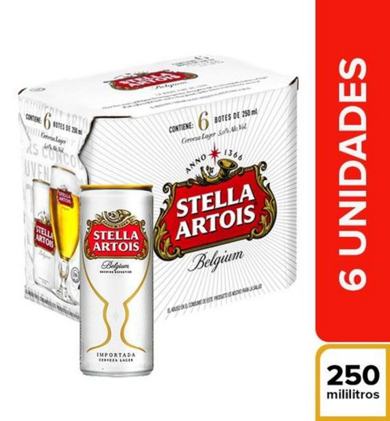 Oferta de Cerveza Belgium Sixpack Stella Artois x 250 ml por $17800