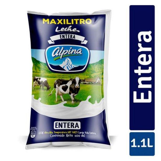 Oferta de Leche Entera Alpina en Bolsa x 1100 ml por $2826
