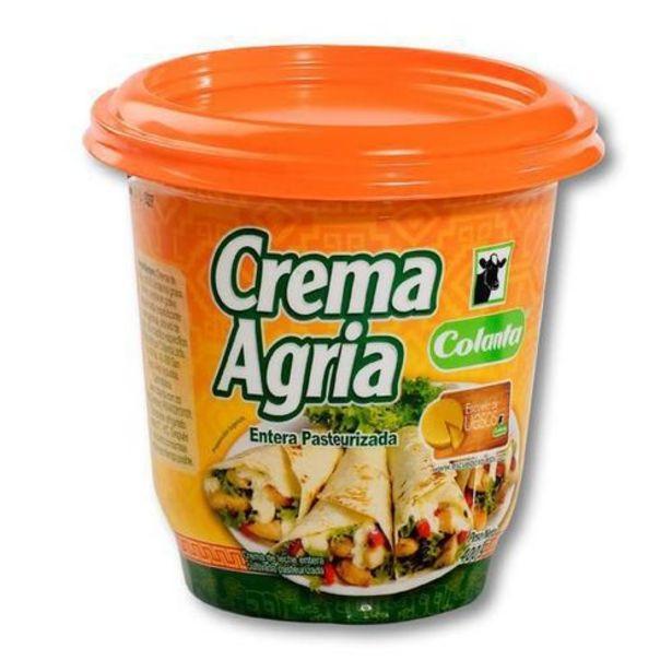 Oferta de Crema Agria Pasteurizada Colanta x 400 gr por $6220