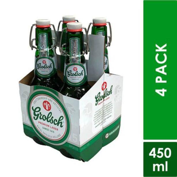 Oferta de Cerveza premium lager fourpack GROLSCH 450.000 Mililitro por $23950