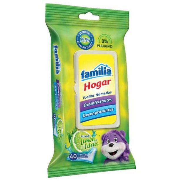 Oferta de Toallas Húmedas Desinfectantes Hogar x 40 und FAMILIA 36229 por $4230