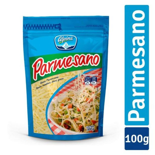 Oferta de QUESO PARMESANO X 100 GRS ALPINA 100 Gramo por $6000