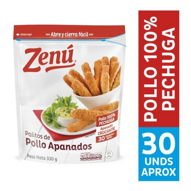 Oferta de Palitos de pollo apanados zenú x 30 Unds por $11250