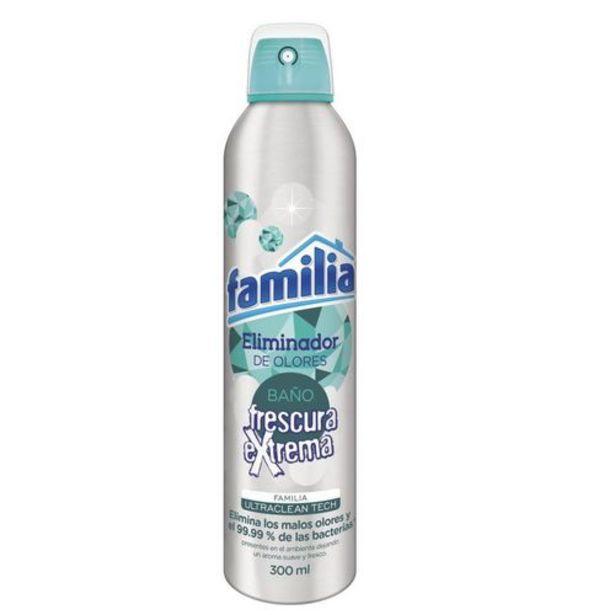 Oferta de Eliminador de olores familia frescura extrema x 300 ml por $12350