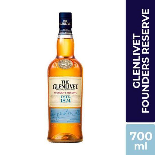 Oferta de Whisky Glenlivet Founders Reserve x 700 ml por $99900