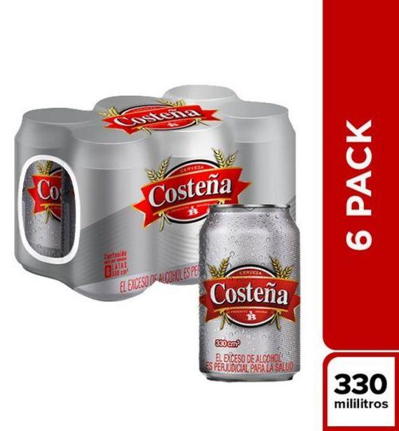 Oferta de Cerveza Costeña Sixpack Lata x 330 ml por $8600