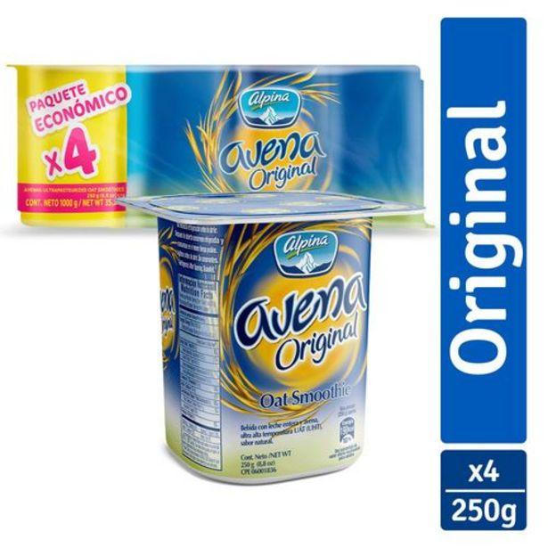 Oferta de Avena Alpina Original Paq x 4 unds (Vasos x 250 g ) por $5985