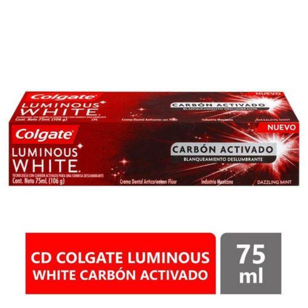 Oferta de Crema Dental Colgate Luminous White con Carbón Activado de 75 ml por $8107