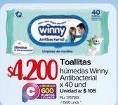 Oferta de Toallas húmedas para bebé Winny por $4200