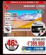 Oferta de Smart tv Samsung por $1399900