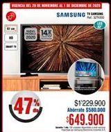 Oferta de Smart tv Samsung por $649900