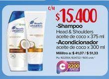 Oferta de Shampoo y acondicionador H&S por $15400