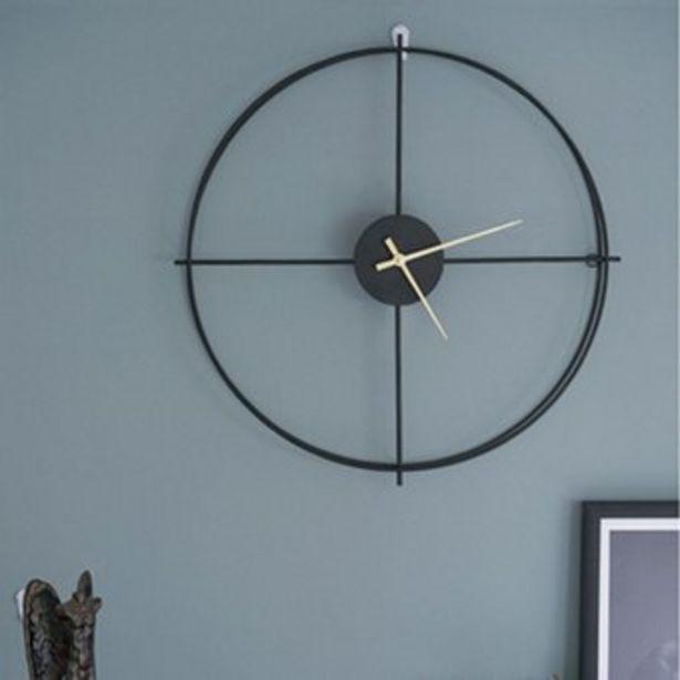Oferta de Reloj de Pared Estilo Nórdico 50 cm-Negro por $193900