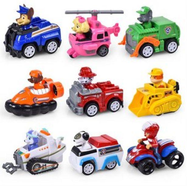 Oferta de Set 9 Figuras de Paw Patrol Personajes y Vehículos en caja por $92700