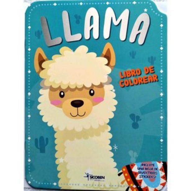 Oferta de Libro Infantil De Colorear Y Stickers Sicoben - Llama por $17000