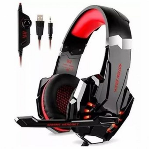 Oferta de Audífonos Diadema Gamer Kotion G9000 Con Microfono Usb Y Led por $53999