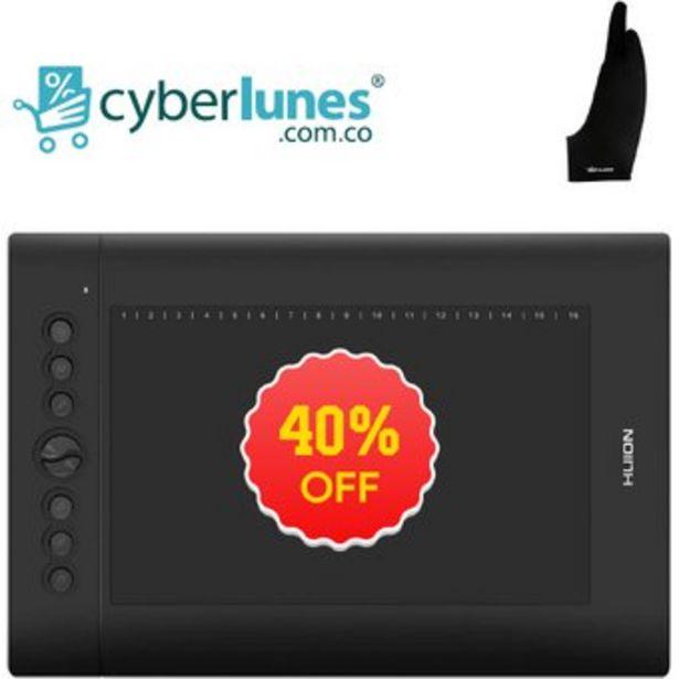 Oferta de Tableta Grafica Huion H610 pro V2 incluye accesorios por $249900