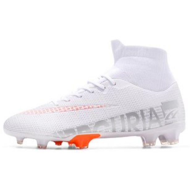 Oferta de Botas de fútbol outdoor FG / TF botines de fútbol antideslizantes Blanco FG por $189999