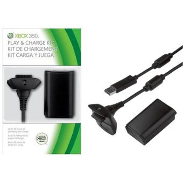 Oferta de KIT DE CARGA Y JUEGA PARA XBOX 360 4800 NI-MH CARGADOR por $13999
