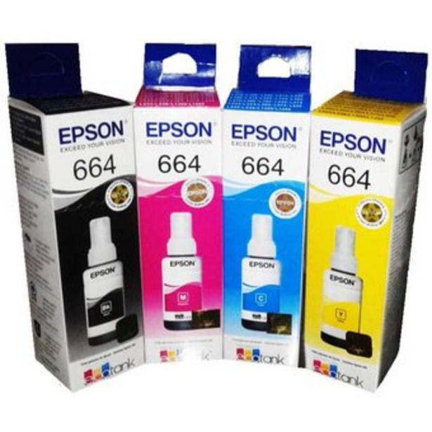 Oferta de Tinta Epson 664 L380 L395 L495 L375 L575 Ecotank por $70000