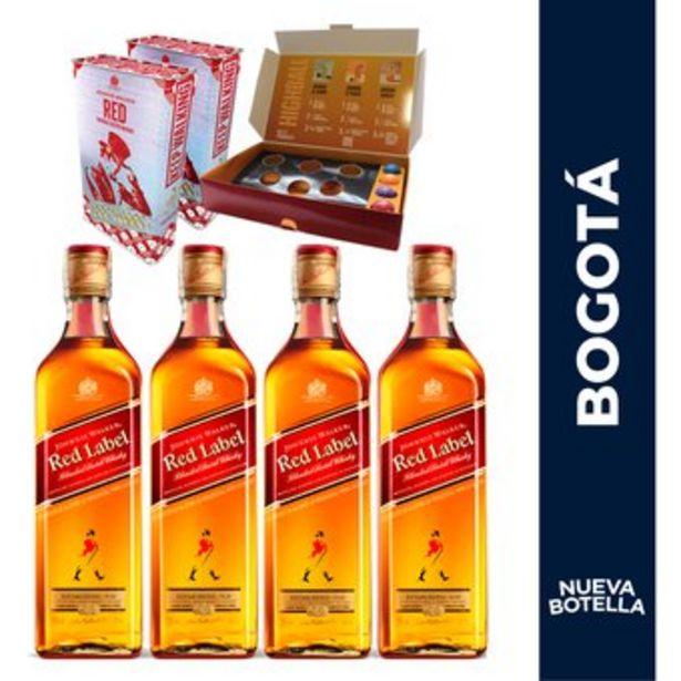 Oferta de 4 Botellas Johnnie Walker 700Ml + Juego De Pong Gratis por $168400