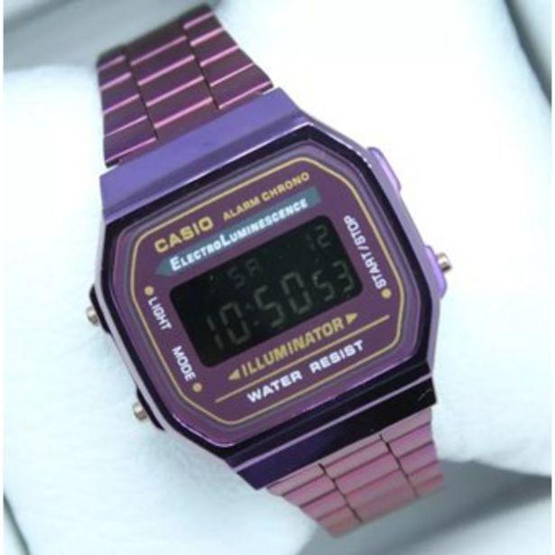 Oferta de Reloj Retro A-168 Oro Morado mujer cierre de broche por $54800