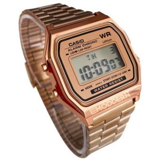 Oferta de Reloj Retro A-159 Oro Rosa Delgado liviano y elegante por $49900