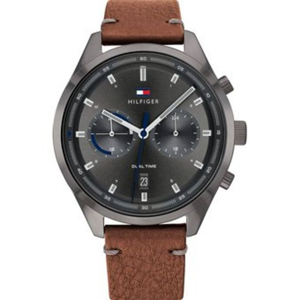 Oferta de Reloj Hombre Tommy Hilfiger Bennet  Cuero-Marrón por $499990